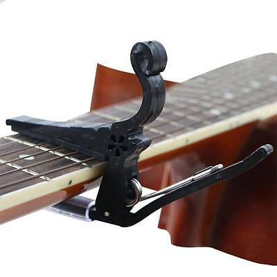 1Pc Acoustic Electric Guitar Quick Change Tune Clamp Key Trigger Capo Black