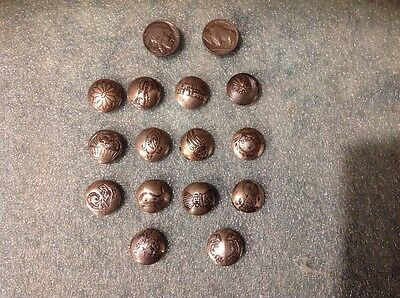 Lot of 16 Old Sterling Silver Vintage Concho Style Navajo Button Covers