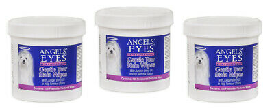 Angels' Eyes Gentle Tear Stain Wipes 100 pk for Dogs and cats FREE POSTAGE