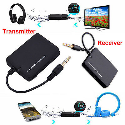 Bluetooth Wireless Stereo Audio Musik Receiver Sender Adapter Dongle 3.5mm