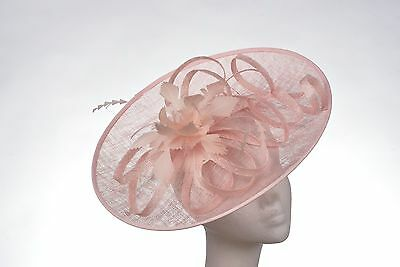 Pink Hat Fascinator Disc Ascot Wedding Mother of the Bride Occasion