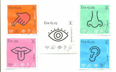 Ireland-The Five Senses fine used set issue 2015-science