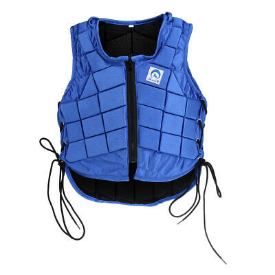 Men Ladies Kids Royal Blue Safety Horse Riding Vest Equestrian Protection Vest