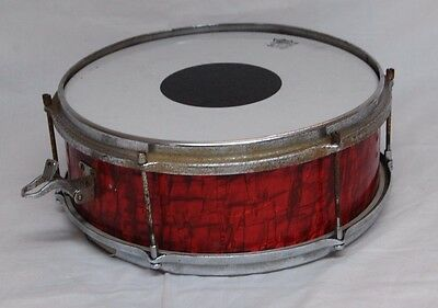 "Vintage 13"" x 5"" Snare Drum In Red Pearl - Incomplete"