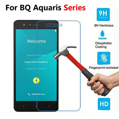 Slim Front Tempered Glass Screen Protector Cover Film Skin For BQ Aquaris Series