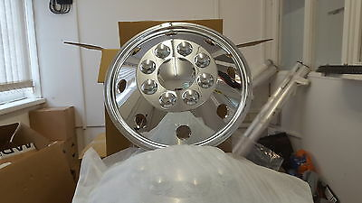 "WHEEL TRIMS 16""  TRUCK MOTORHOME VANS HORSEBOX SET 0F 4 3.5 ton"