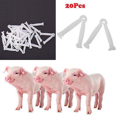 20X/Set Clean Disposable Umbilical Cord Clamps Puppy Animal Birth Whelping Clamp