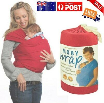 Fashion WatermelonRed Cotton  Moby Wrap Infant Baby Carrier Sling Top 0-3 Years
