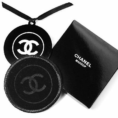 Chanel Round Metal Pocket Mirror With Velvet Pouch BNIB