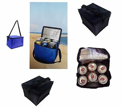 6 Can Cool Bag Thermos Travel Picnic Lunch Camping Insulated Cooler Hamper New