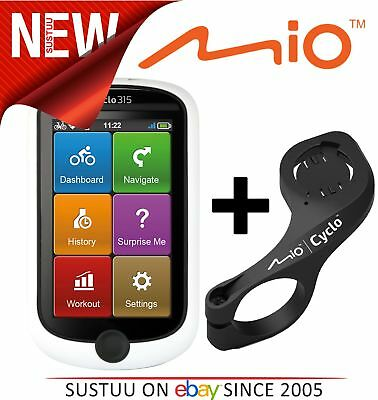 Mio Cyclo 315WE Bike Bicycle GPS SATNAV UK Western Europe Maps + Out Front Mount