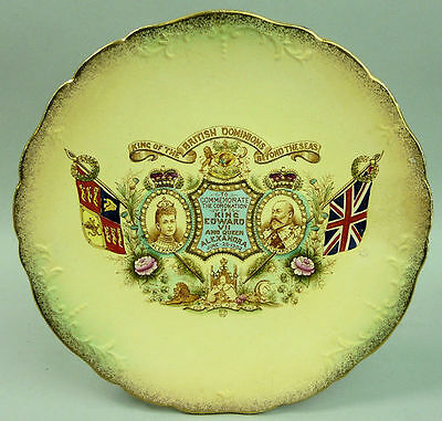 Edward Vii Coronation Pottery Plate 1902
