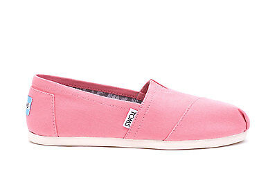 TOMS Kids Classics Youth- Pink Canvas  Sz UK 2.5 - Brand New in Box