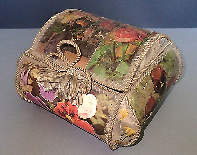 Special art antique vintage handmade paper sewing colorful cosmetic box mirror