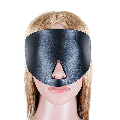 Soft PU Leather Nose Open Blindfold Sexy Eye Patch Mask For Couples Party Fun