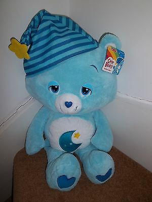 """BNWT NEW 24"""" BEDTIME CARE BEAR SOFT TOY by PLAYALONG TOYS"""