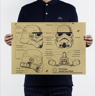 Star Wars - B section design drawings kraft paper decoration posters