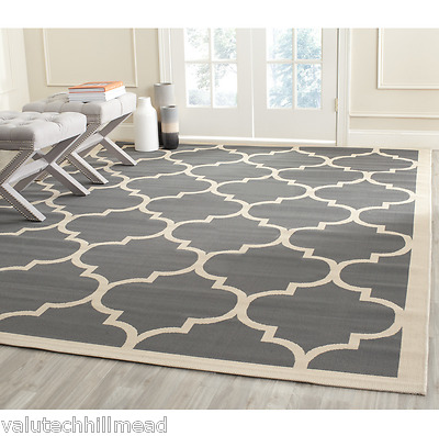 Safavieh Isaac Anthracite/Beige Indoor/Outdoor Area Rug 121cm W x 170cm L