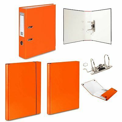 1 or 5 x Lever Arch File + 2 Hard Folders - 1 Velcro + 1 Rubber Band - Office