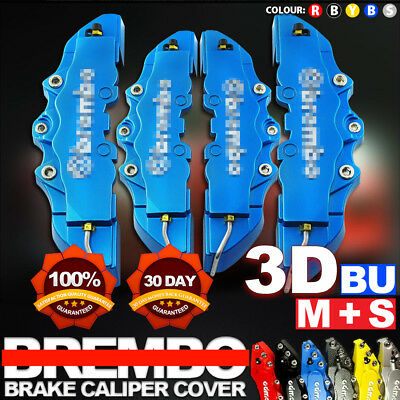 4Pcs Blue 3D Brake Caliper Covers Style Disc Universal Car Front Rear Kits CY01