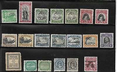 New Zealand Unused Stamps - Cook Islands + Cook Island O/prints