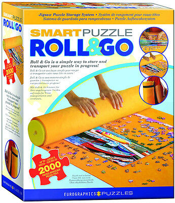 "Jigsaw Puzzle Storage Roll Up Mat New Eurographics 50""L By 30""W Fits 2000 Piece"