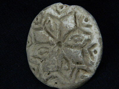 Ancient Teracotta Seal Indus Valley 2000 BC #TR5946