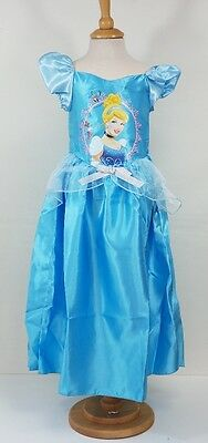 Girls Disney Princess Blue Cinderella Fancy Dress Up Outfit Costume 7-8 Years