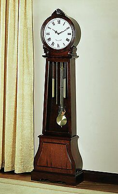 Vintage Grandfather Clock Antique Decor Hallway Floor Decorative Chime Clocks