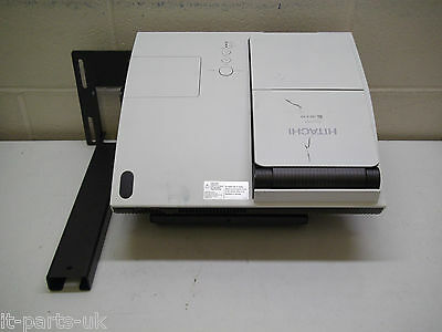 HITACHI ED-A101 Short Throw Projector - 194 Hours Used. With wall bracket