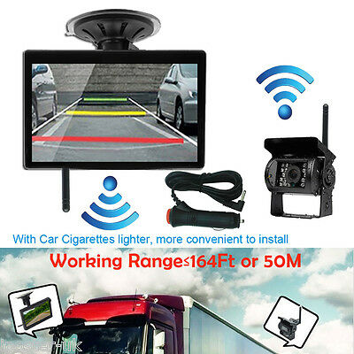 Wireless Rear View Parking Kit 5 Inch HD Monitor with Reverse Camera Truck Bus