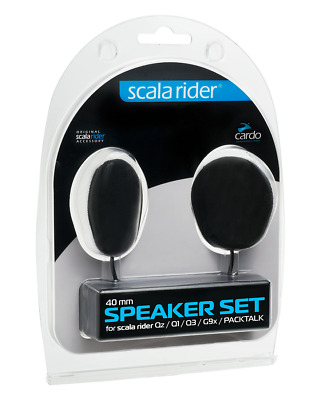 Cardo Scala Rider 40mm Speakers Set│Qz Q1 Q3 G9x G9 SmartPack PackTalk Audio Kit