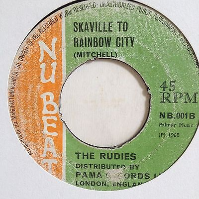 "'skaville To Rainbow City/train To Vietnam The Rudies Pama/nu Beat 7"" Skinhead"