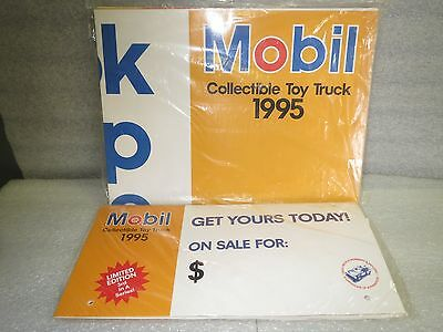 Mobile 1995 Collectible Truck Promotion Sign And Display Kit