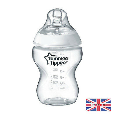 Tommee Tippee Closer to Nature 260ml/9oz Single Baby Bottle&Teat 0m BPA free UK