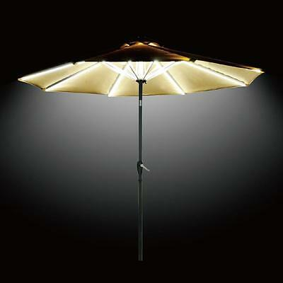 Parasol LED Lighting, Patio Garden Umbrella Lamp, Outdoor Lawn Light Warm Lights