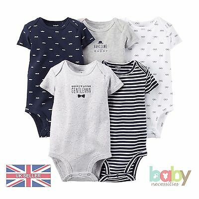 Baby Romper Bodysuit Pack Set Bundle Boys Carters Gentleman Nautical Clothes UK