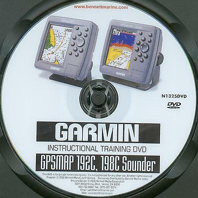Garmin GPSMAP 192c 198c Sounder Instructional Training  DVD film