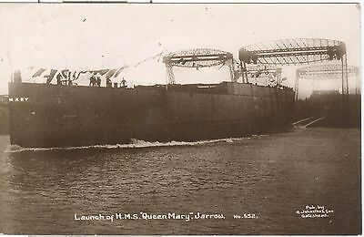 Launch of HMS Queen Mary, Jarrow RP nr. Newcastle on Tyne