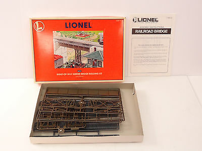 Lionel O Scale Right-Of-Way Girder Bridge Building Kit Item 6-12968 New