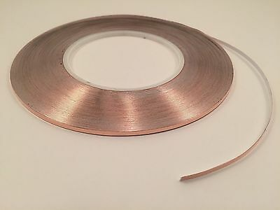 "1/8"" x 55 yards Copper Foil Tape- EMI Shielding- Conductive-165' 50M"