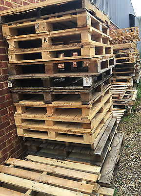 Various Empty Wooden Pallets Also For Fire Wood Kindling Furniture Fencing Etc