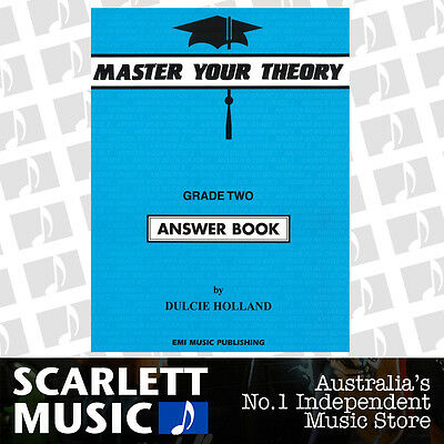 "Master Your Theory - Grade 2 / Two ""Answer Book"" - Dulcie Holland *NEW*"
