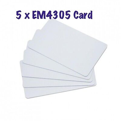 5 x RFID EM4305 125KHZ key Rewritable Card