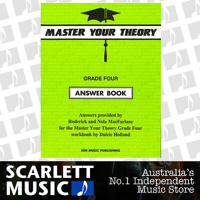 "Master Your Theory - Grade 4 / Four ""Answer Book"" - Dulcie Holland *NEW*"