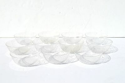 11 Antique Victorian Delicately Etched Glass Finger Bowls/serving Bowls