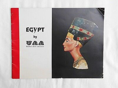 Egypt by United Arab Airlines (Paperback, mid 1960's)  Vintage, advertising, air