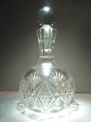 hawks crystal decanter with stopper