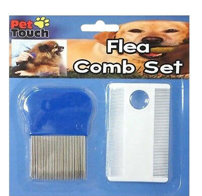 Flea Hair Comb Set With Thin And Small Stainless Steel Needle Dog Cat Pet New