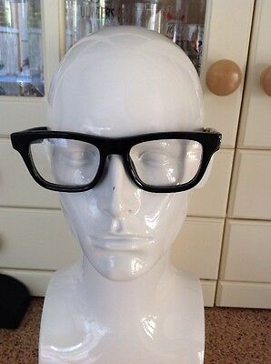 Great Prada Mens Black Prescription Glasses Frames With Case Used Good Condition